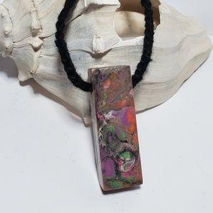 Handpainted Wearable Art Artisan Necklace